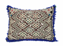 "Moroccan Cushion Vintage Kilim Stuffed  Wool  50 cm x 38 cm / 20"" x 15"" (VC315)"